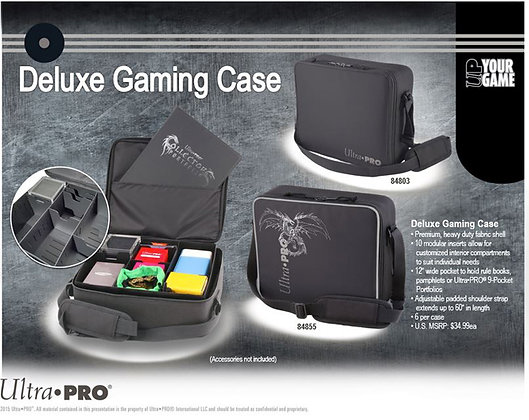 ULTRA PRO DELUXE GAMING CASE BLACK DRAGON