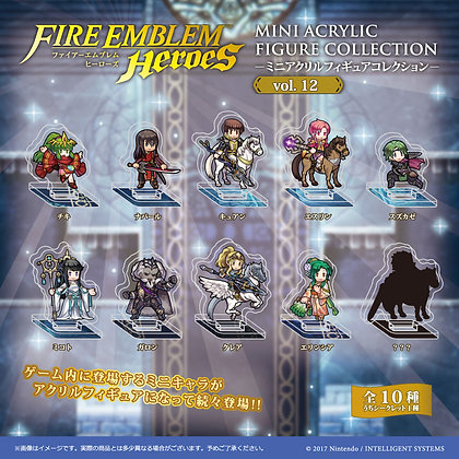 "Set of `10 ""Fire Emblem Heroes"" Mini Acrylic Figure Collection Vol. 12"