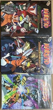 Lot of 3 Naruto Movie Film (DVD)
