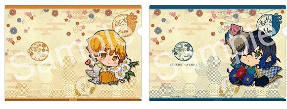 """""""Demon Slayer: Kimetsu no Yaiba"""" Clear File Set Zenitsu & Inosuke Birth Flower"""