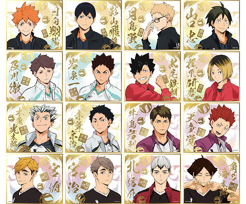 """""""Haikyu!! To The Top"""" Visual Colored Paper Collection 4 (Set of 16)  by Ensky"""