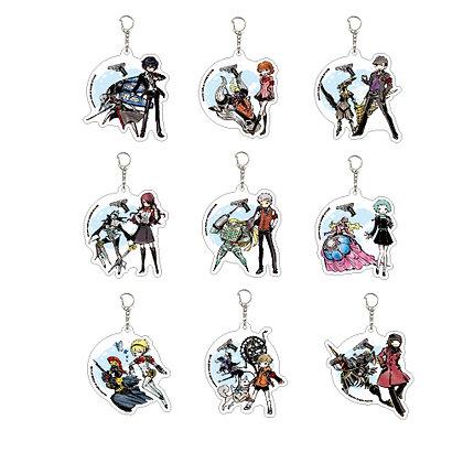 "Set of 9 Acrylic Key Chain ""Persona 3"" 01 Graff Art Design"