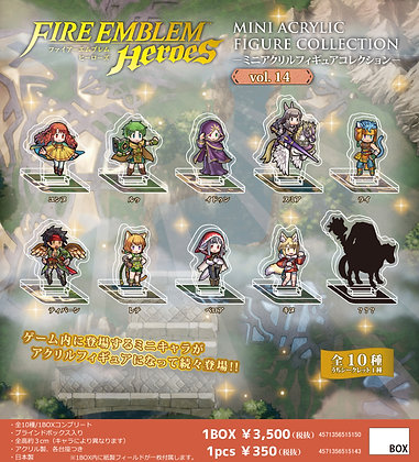 "Box of 10 ""Fire Emblem Heroes"" Mini Acrylic Figure Collection Vol. 14"