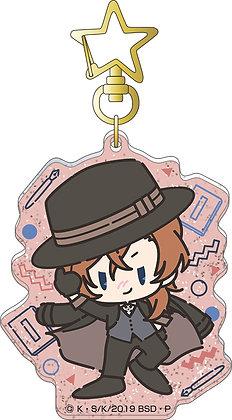 """""""Bungo Stray Dogs"""" Acrylic Key Chain Nakahara Chuya Retro Chibi Character"""