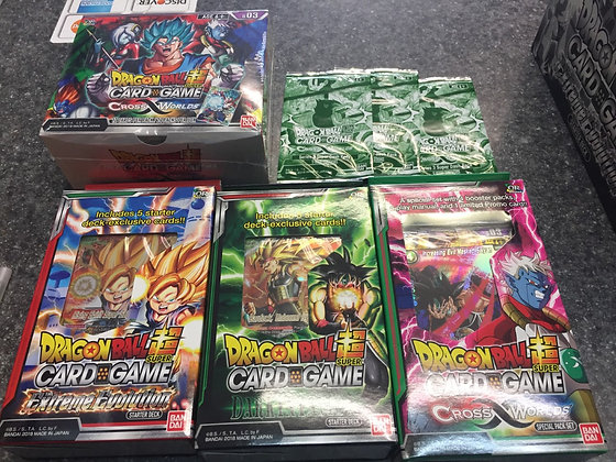 2018 Series 3 Cross Worlds Dragon Ball Super Combo! Booster Box+ 3 Decks + 3 Bon
