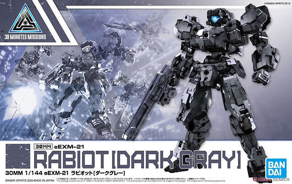 30 MINUTE MISSION EEXM-21 RABIOT DARK GRAY MDL KIT (Net) (C: BANDAI HOBBY