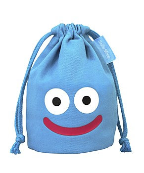 """Dragon Quest"" Smile Slime Mini Kinchaku Blue Dice Bag"