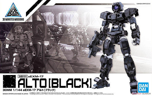 30 MINUTE MISSION 13 EEXM-17 ALTO BLACK MDL KIT  BANDAI HOBBY