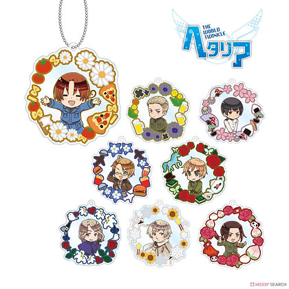 Hetalia The World Twinkle Trading Acrylic Key Ring (Motif Ver.)  4580518931349