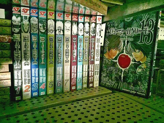 Death Note Vol. 1,2,3,4,5,6,7,8,9,10,11,12,13, (Manga)