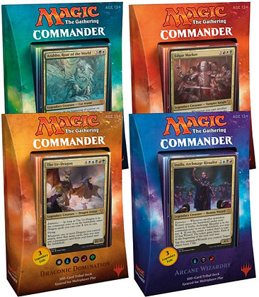 Complete Set of Four Commander 2017 Decks Sealed English Mtg Magic the Gathering