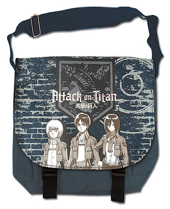 ATTACK ON TITAN - GROUP & WALL MESSENGER BAG