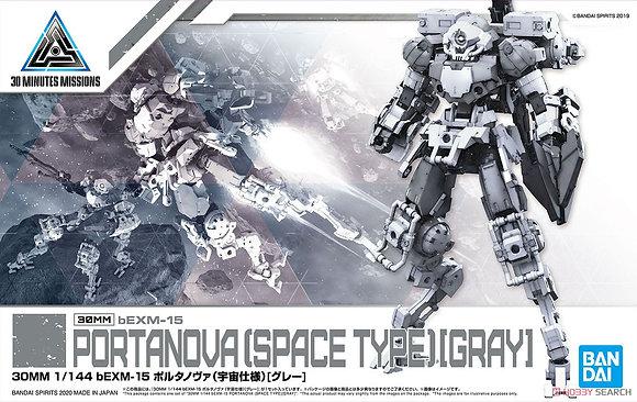 Bandai30MM bEXM-15 Portanova (Space Specification) [Gray] (Plastic model)