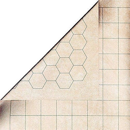 "Chessex Reversible Battlemat 1"" sq/hex Double Sided RPG Vinyl Mat CHX96246"