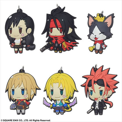 """Final Fantasy"" Trading Rubber Strap Set of 6"
