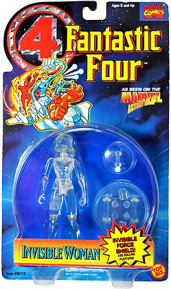 Toy Biz Marvel Fantastic Four Animated Series Invisible Woman Action Figure 5 In