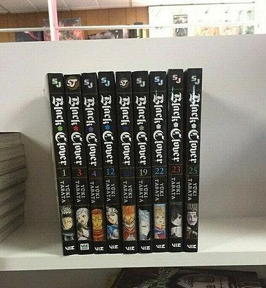 Black Clover, Vol. 1,3,4,12,15,19,22,23,25 (9 Manga)