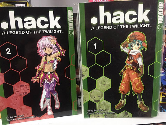 DOT HACK LEGEND OF THE TWILIGHT VO; 1,2 (Manga) (Book) New