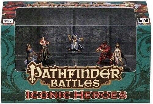 Set of 8 WizKids Pathfinder Battles Minis: Iconic Heroes Box