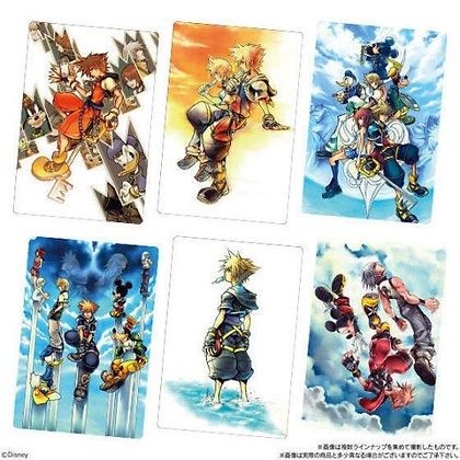 One Sealed BOX of 20 packs Kingdom Hearts Wafer with Card