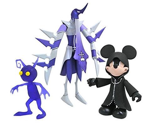 DIAMOND SELECT TOYS Kingdom Hearts: Hooded Mickey, Assassin & Purple Shadow Pack