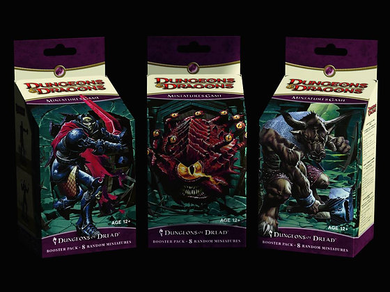 Lot of 3 D&D MINATURES DUNGEONS OF DREAD BOOSTER PACKS WIZARDS OF THE COAST   In