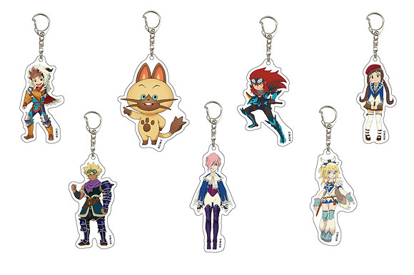"""Set of 7Acrylic Key Chain """"Monster Hunter Stories RIDE ON"""" 01  by A3"""