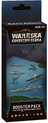 Axis and Allies Naval Miniatures War at Sea Condition Zebra Booster Pack Game Ex