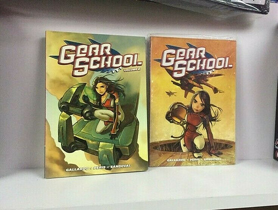 Gear School Volume 1,2 Manga Paperback – October 12, 2010  by Adam Gallardo