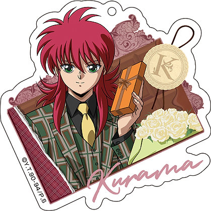 """YuYu Hakusho"" Acrylic Key Chain Valentine Ver. 3 Kurama  Medicos Entertainment"