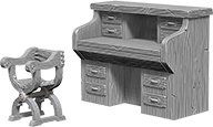 WizKids Deep Cuts Unpainted Miniatures: Desk & Chair
