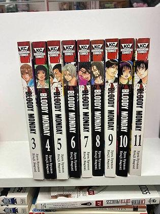 Bloody Monday Vol. 3,4,5,6,7,8,9,10,11 Manga Graphic Novel  (9 Books)  KODANSHA