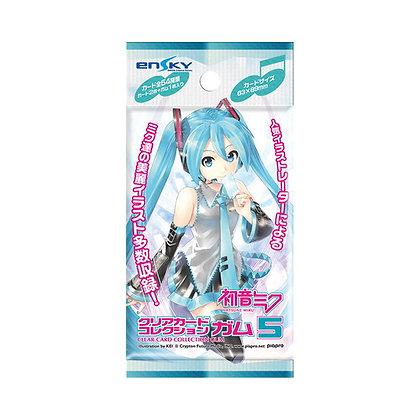 3 packs Hatsune Miku Clear Card Collection Gum 5