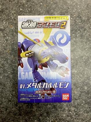 """Bandai  SHODO """"Digimon Adventure:""""  Vol 2 Garurumon Figure"""