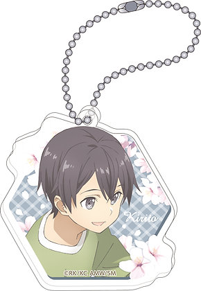 """Sword Art Online The Movie -Ordinal Scale-"" Acrylic Key Chain Kirito by Movic"