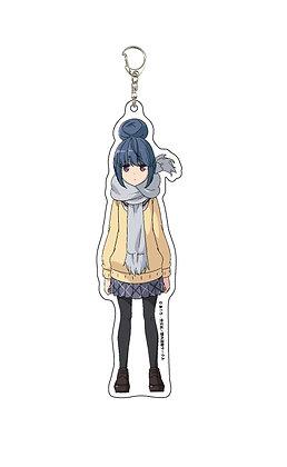 """Deka Acrylic Key Chain """"Yurucamp"""" 02 Shima Rin"""