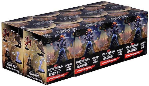 WizKids D&D Icons of the Realms: Waterdeep Dragon Heist (8 Ct.), Booster Brick