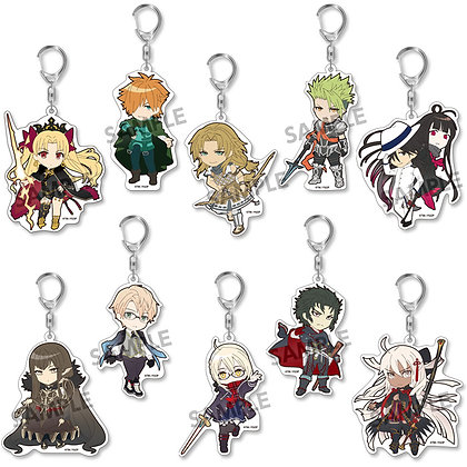 "Set of 10Pikuriru! ""Fate/Grand Order"" Trading Acrylic Key Chain Vol. 9  by Hobb"