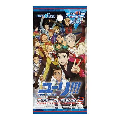 """3 packs """"Yuri!!! on Ice"""" Clear Card Collection Gum 2"""