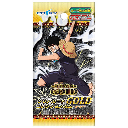 """""""One Piece Film Gold"""" Clear Card Collection Gum GOLD First Release Limited Editi"""