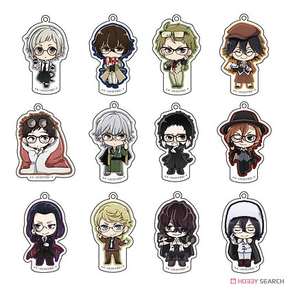 Bungo Stray Dogs Chara Glasses Collection Acrylic Key Ring Vol.1 (Set of 12)  by