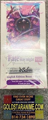 Weiss Schwarz Fate/Stay Night Volume 2 Heaven's Feel Booster Box