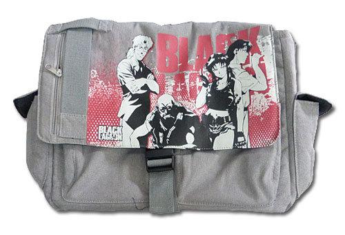 BLACK LAGOON - GROUP GRAY MESSENGER BAG