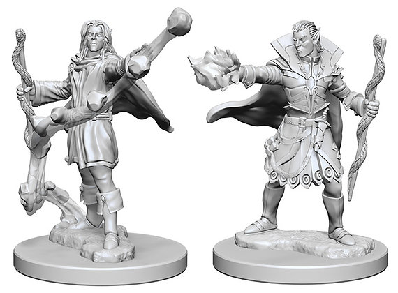 Pathfinder Deep Cuts Unpainted Miniatures: Elf Male Sorcerer WIZKIDS/NECA