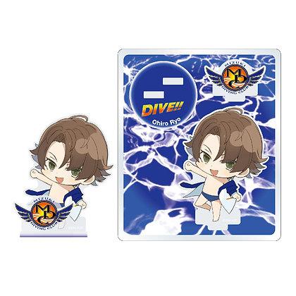 """DIVE!!"" Acrylic Figure Ohiro Ryo Deforume Chara Ver. by ""Philter,Inc"