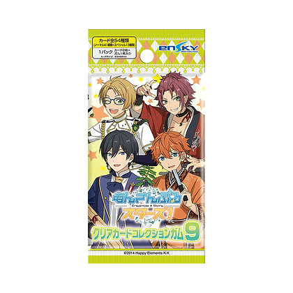 """Display Box of 16packs""""Ensemble Stars!"""" Clear Card Collection Gum Vol 9  by En"""
