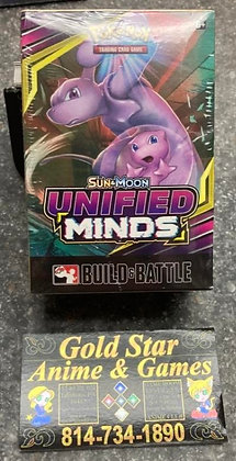 Pokemon TCG Card Game Sun and Moon Unified Minds Build and Battle Box