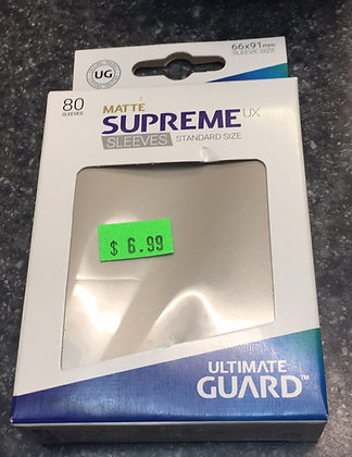 Supreme standard size matte  sand card sleeves (80ct)