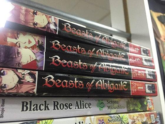 BEASTS OF ABIGAILE GN VOL 1,2,3,4 MANGA BOOKS