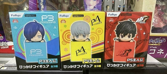 FuRyu Set of  3 Persona 3, 4, and 5 Hikkake Figures